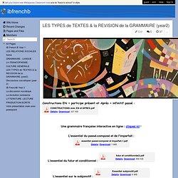 ibfrenchb - LES TYPES de TEXTES & la REVISION de la GRAMMAIRE (year2)