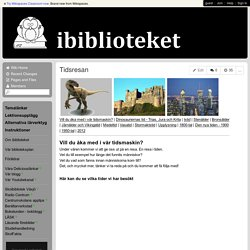 ibiblioteket - Tidsresan