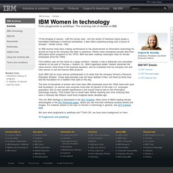 IBM - Archives - Women in technology
