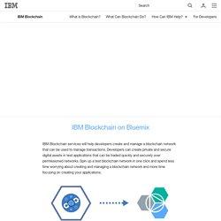 IBM Blockchain - How IBM can help