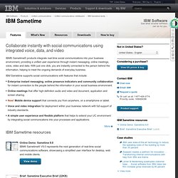 Sametime - unified communications and collaboration software