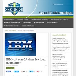 IBM voit son CA dans le cloud augmenter