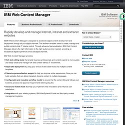 IBM Workplace Web Content Management - Product Overview