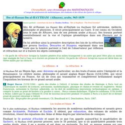 Ibn al-Hassan ibn al-Haytam (Alhazen)
