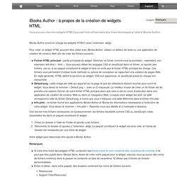 iBooksAuthor: à propos de la création de widgets HTML