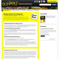 iBooks Author For Dummies Cheat Sheet