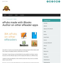 ePubs made with iBooks Author on other eReader apps