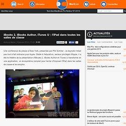 iBooks 2, iBooks Author, iTunes U : l'iPad dans toutes les salles de classe
