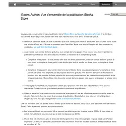 iBooks Author: Vue d'ensemble de la publication iBooks Store