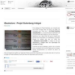 iBookstore: Projet Gutenberg intégré