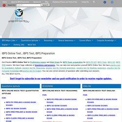 IBPS Online Test, IBPS Test, IBPS Free Mock Test