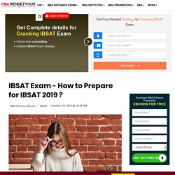 IBSAT Exam Preparation, How to Prepare for IBSAT