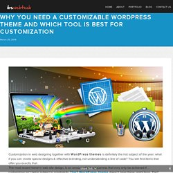 Why You Need A Customizable Wordpress Theme And Which Tool Is Best For Customization - ibswebtechibswebtech