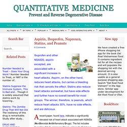Aspirin, Ibuprofen, Naproxen, Statins, and Peanuts