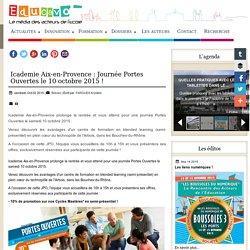 Icademie Aix-en-Provence : Journée Portes Ouvertes le 10 octobre 2015 !