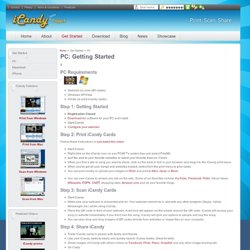 iCandy - PC: Getting Started