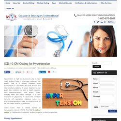 ICD-10-CM Coding for Hypertension