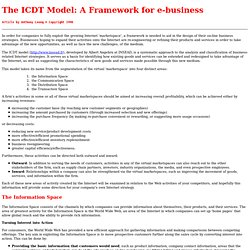 The ICDT Model: A Framework for e-business