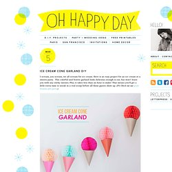 Ice Cream Cone Garland DIY