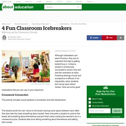 4 Classroom Icebreaker Activities for Teachers