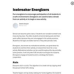 Icebreaker Energizers: Student Motivational Activities