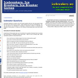 Icebreaker Questions - Icebreaker games collection