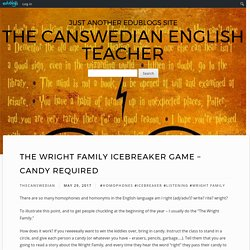 The Wright Family – The Canswedian English Teacher