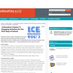 Icebreakers Volume 3: Activities for the First Days of School