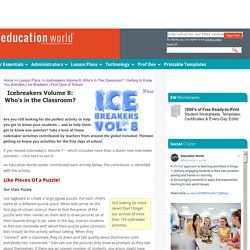 Education World: Icebreakers Volume 8: Who's In The Classroom?