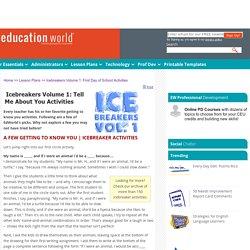 Education World: Icebreakers: Volume 1