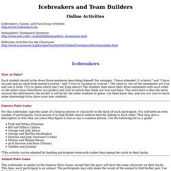 Icebreakers and Team Builders