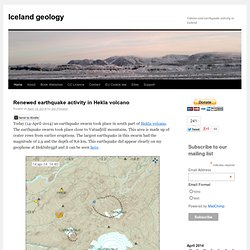 Volcano and earthquake activity in Iceland