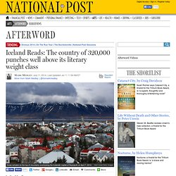 Iceland Reads: The country of 320,000 punches well above its literary weight class