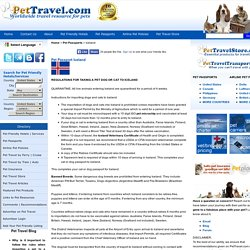 Iceland Pet Passport - Current Dog and Cat Import Requirements