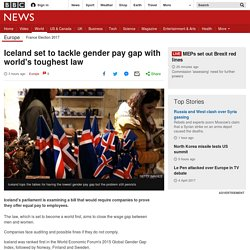 Iceland set to tackle gender pay gap with world's toughest law