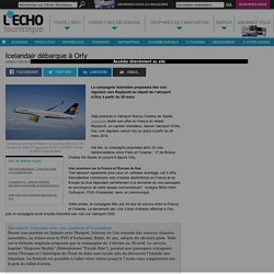 Icelandair débarque à Orly