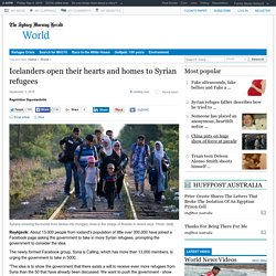 Icelanders open their hearts and homes to Syrian refugees