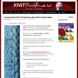 Icelandic Bind-Off: Best Easy Bind-Off for Garter Stitch