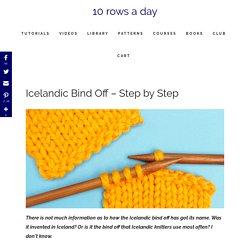 Icelandic Bind Off - Step by Step