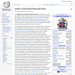 2008–11 Icelandic financial crisis