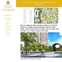 Tiện ích tại dự án Imperia Sky Garden 423 Minh Khai