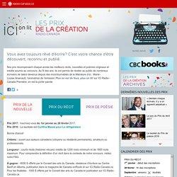 ICI on lit : Les prix de la création de Radio-Canada