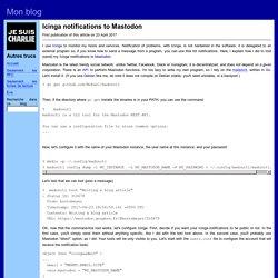 Icinga notifications to Mastodon