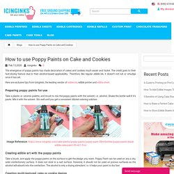 Icinginks' special tips on How to use Poppy Paints on Cake and Cookies