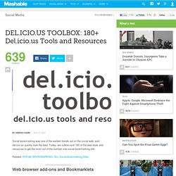 DEL.ICIO.US TOOLBOX: 180+ Del.icio.us Tools and Resources