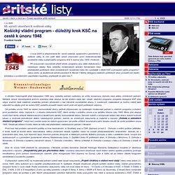 Košický vládní program - důležitý krok KSČ na cestě k únoru 1948