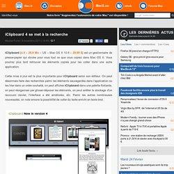 iClipboard 4 se met à la recherche
