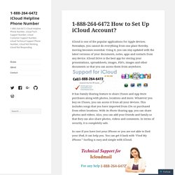 1-888-264-6472 How to Set Up iCloud Account?