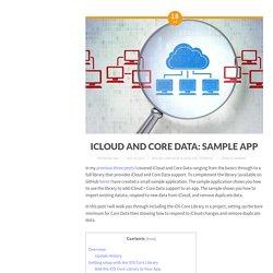 iCloud and Core Data: Sample App