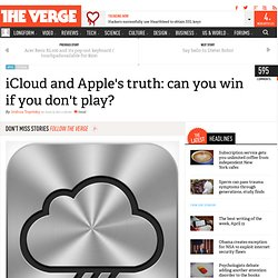 iCloud and Apple's truth: can you win if you don't play? | This is my next... (Build 20110608151458)